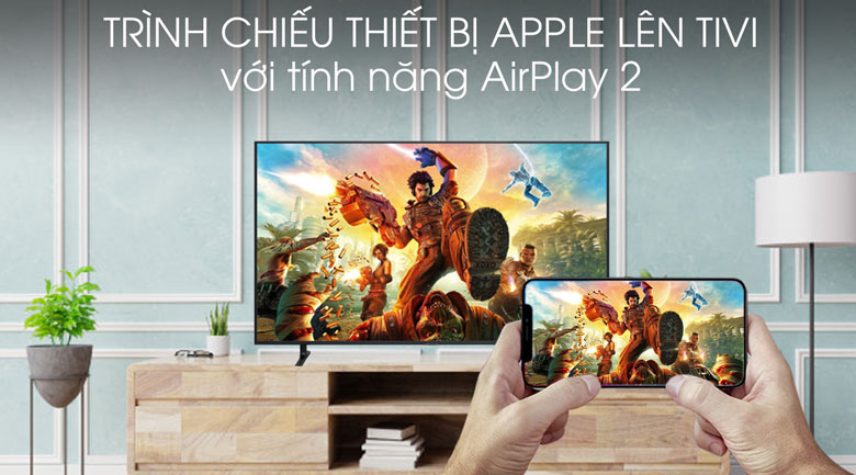 Smart tivi Samsung 4K 55 inch UA55RU8000 - Tính năng AirPlay 2