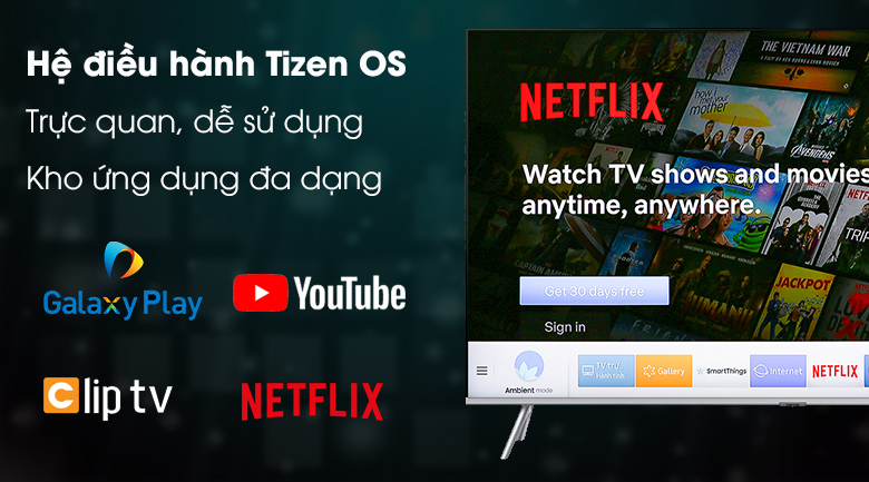 Smart tivi Tivi QLED Samsung 4K 49 inch QA49Q75R - Tizen OS