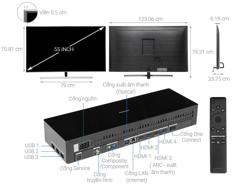 Thông số kỹ thuật Smart Tivi QLED Samsung 4K 55 inch QA55Q80R