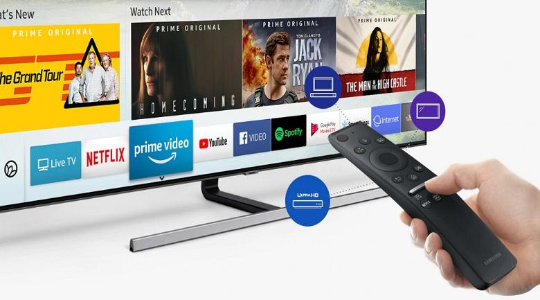 Smart Tivi QLED Samsung 4K 55 inch QA55Q80R - One Remote