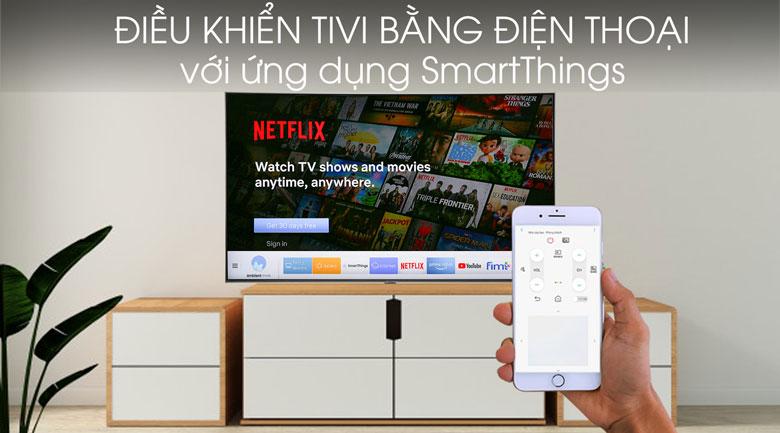 Smart Tivi QLED Samsung 4K 55 inch QA55Q80R - SmartThings