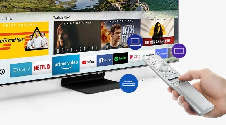 Smart Tivi QLED Samsung 4K 75 inch QA75Q90R - One Remote