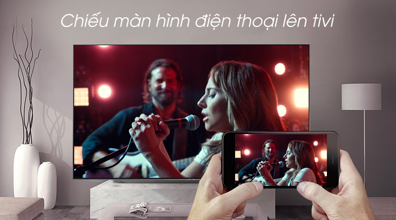 Smart Tivi QLED Samsung 4K 75 inch QA75Q90R - Screen Mirroring