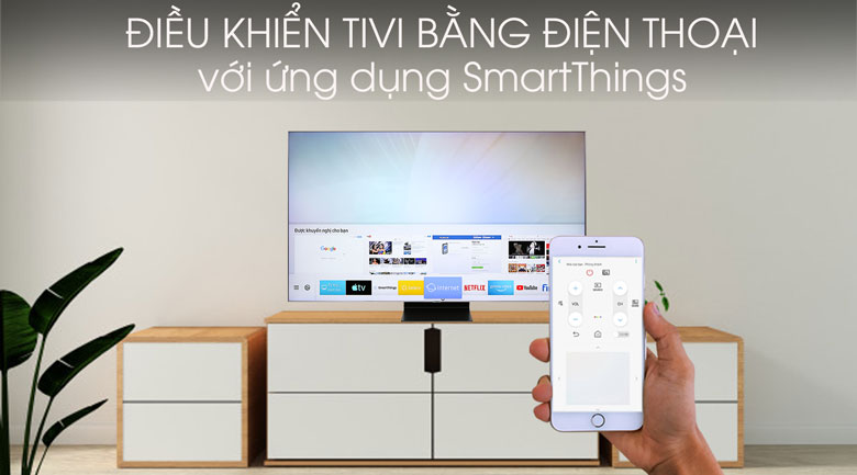 Smart Tivi QLED Samsung 4K 75 inch QA75Q90R - SmartThings