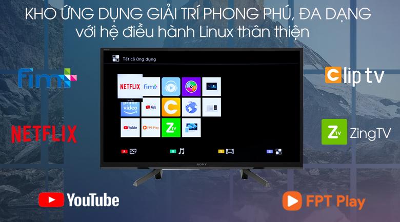 Smart Tivi Sony 32 inch KDL-32W610G - hệ điều hành