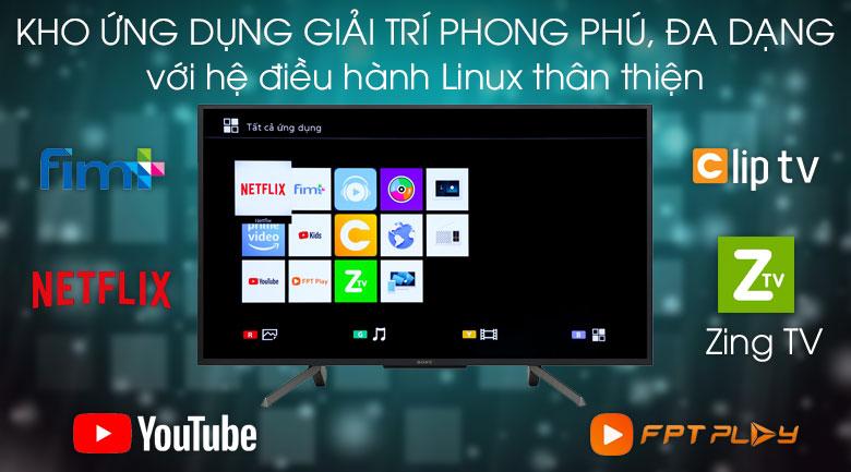Smart Tivi Sony 43 inch KDL-43W660G - hệ điều hành
