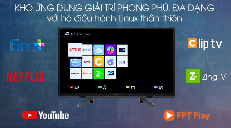 Smart Tivi Sony 50 inch KDL-50W660G - hệ điều hành