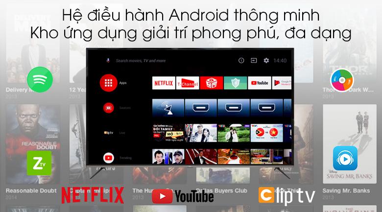 Android Tivi TCL 4K 55 inch L55P8-UF - Hệ điều hành Android