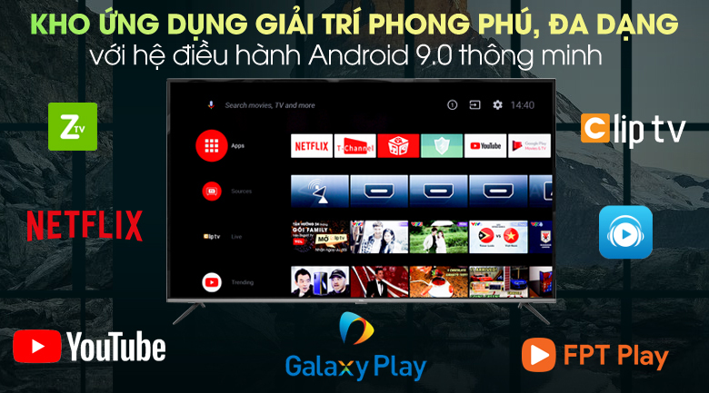 Android Tivi TCL 4K 65 inch L65P8 - Hệ điều hành