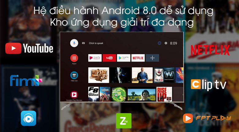 Android Tivi Skyworth 4K 55 inch 55G2 - Android 8.0