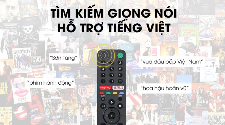 Android Tivi Sony 4K 55 inch KD-55X9500G - Tìm kiếm giọng nói bằng tiếng Việt