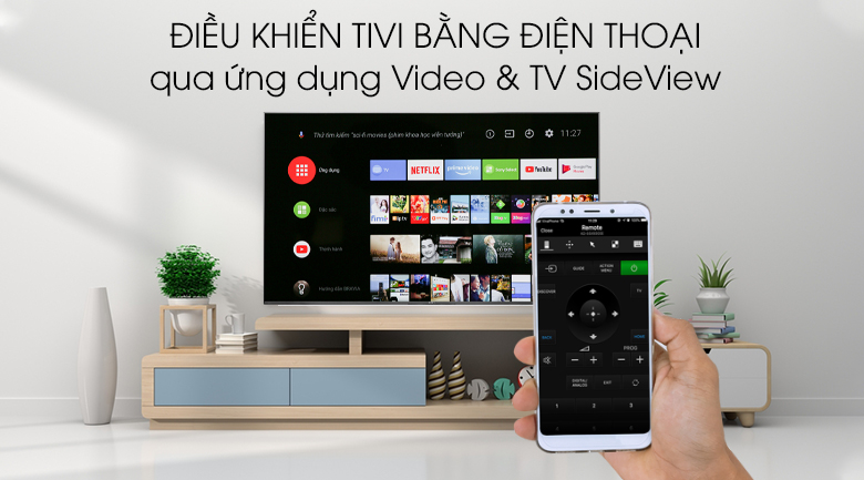 Android Tivi Sony 4K 55 inch KD-55X9500G - Video & TV SideView