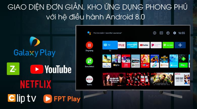 Android Tivi Sony 4K 55 inch KD-55X9500G - hệ điều hành android