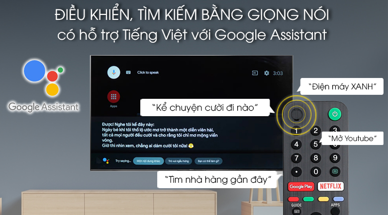 Android Tivi Sony 4K 65 inch KD-65X9500G - Voice Search