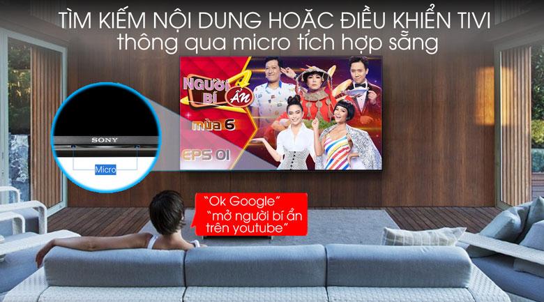 Android Tivi Sony 4K 65 inch KD-65X9500G - Micro tích hợp sẵng trên tivi
