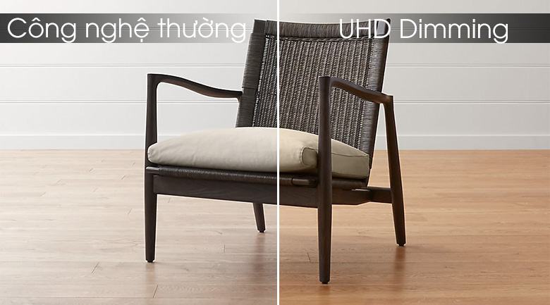 Độ tương phản được nâng cao với công nghệ UHD Dimming
