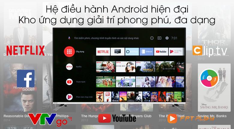 Android Tivi Toshiba 4K 50 inch 50U7880 - Hệ điều hành Android