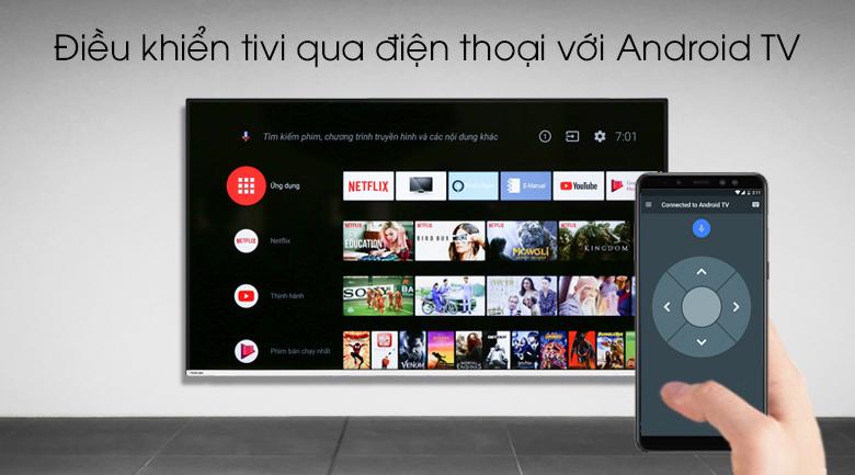 Android Tivi Toshiba 4K 50 inch 50U7880 - Điều khiển tivi qua điện thoại