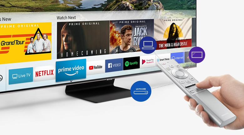 Smart Tivi QLED Samsung 4K 82 inch QA82Q90R - One Remote