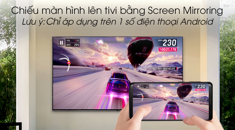 Smart Tivi QLED Samsung 4K 82 inch QA82Q90R - Screen Mirroring
