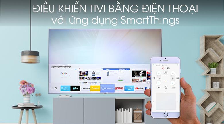 Smart Tivi QLED Samsung 4K 82 inch QA82Q90R - SmartThings