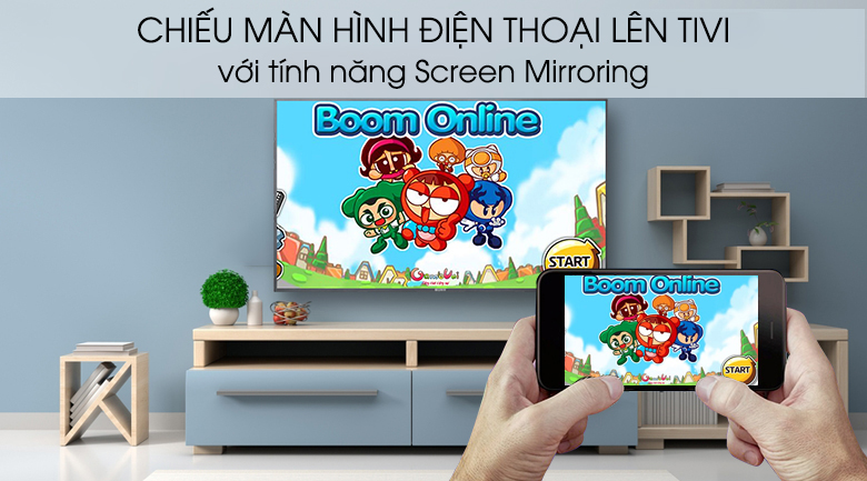 Android Tivi Sony 4K 43 inch KD-43X8000G - Screen Mirroring