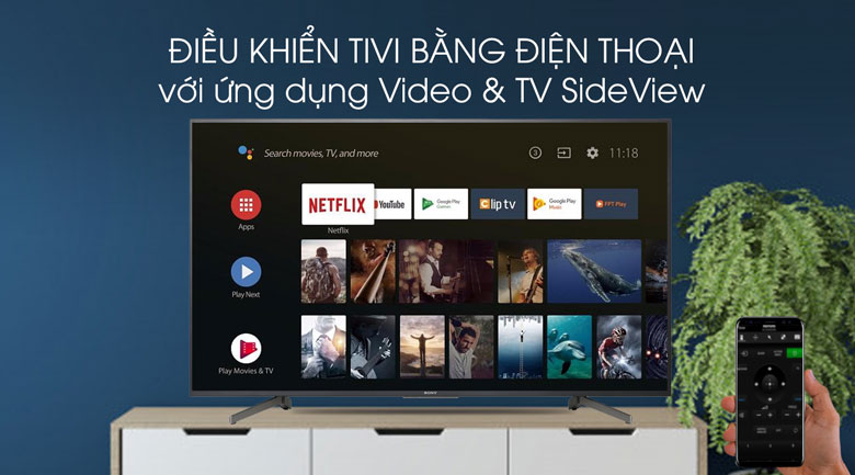 Video & SideView-Tivi LED Sony KD-43X8000G