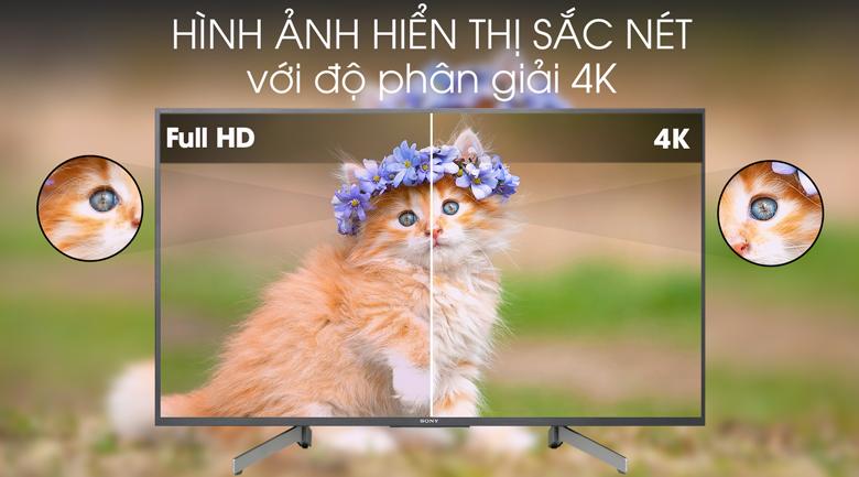Tivi Sony 4K 43 inch KD-43X8000G - Độ phân giải 4K