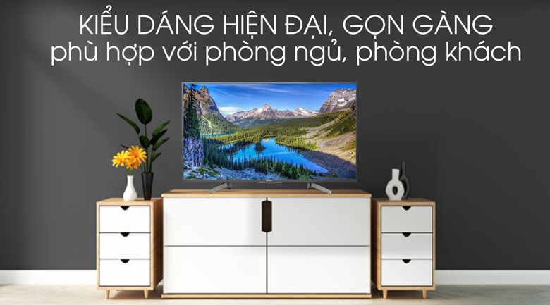 Tivi Sony 4K 43 inch KD-43X8000G - Thiết kế