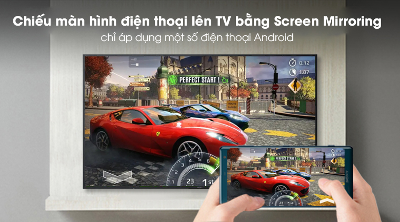 Android Tivi Sony 4K 43 inch KD-49X8000G - Screen Mirroring