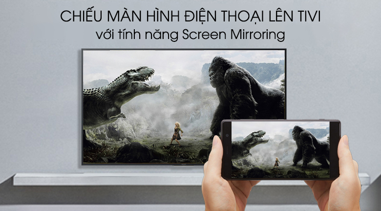 Android Tivi Sony 4K 55 inch KD-55X8000G - Screen Mirroring