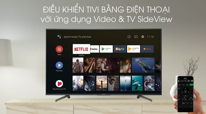 Video & TV SideView-Tivi LED Sony KD-55X8000G