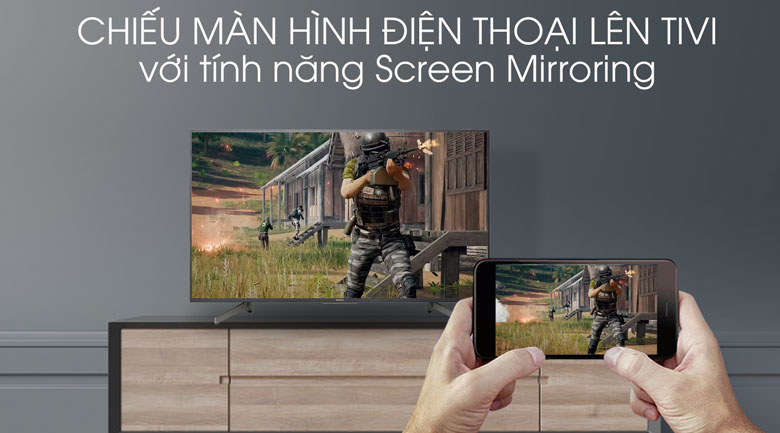 Tivi Sony 4K 55 inch KD-55X8000G - Screen Mirroring