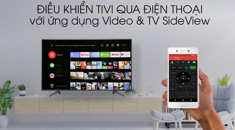 Tivi Sony 4K 55 inch KD-55X8000G - ứng dụng Video & Tivi SideView
