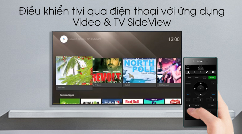 Android Tivi Sony 4K 55 inch KD-55X8000G - Video & TV SideView