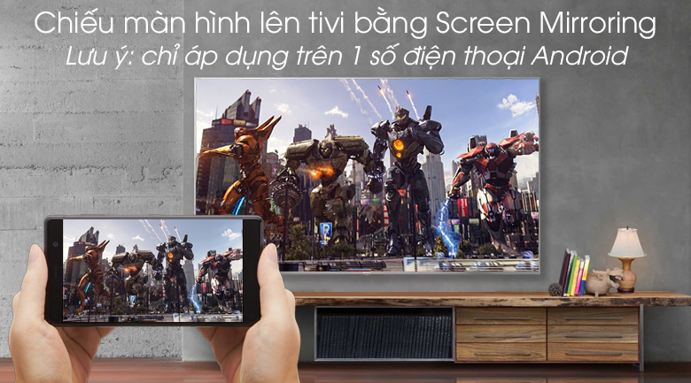 Android Tivi Sony 4K 43 inch KD-43X8500G/S - Screen Mirroring