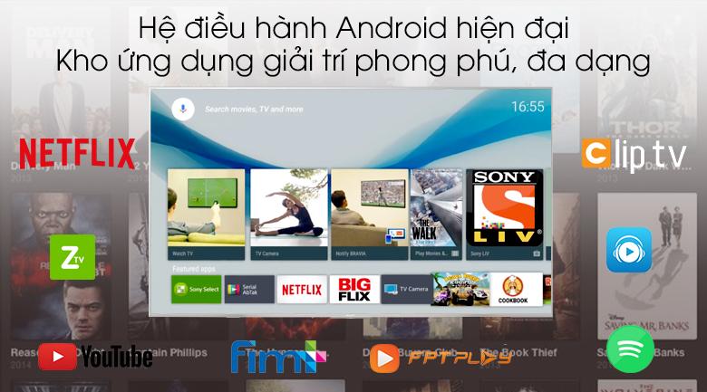 Android Tivi Sony 4K 43 inch KD-43X8500G/S - Hệ điều hành