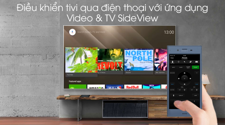 Android Tivi Sony 4K 43 inch KD-43X8500G/S - Video & TV SideView
