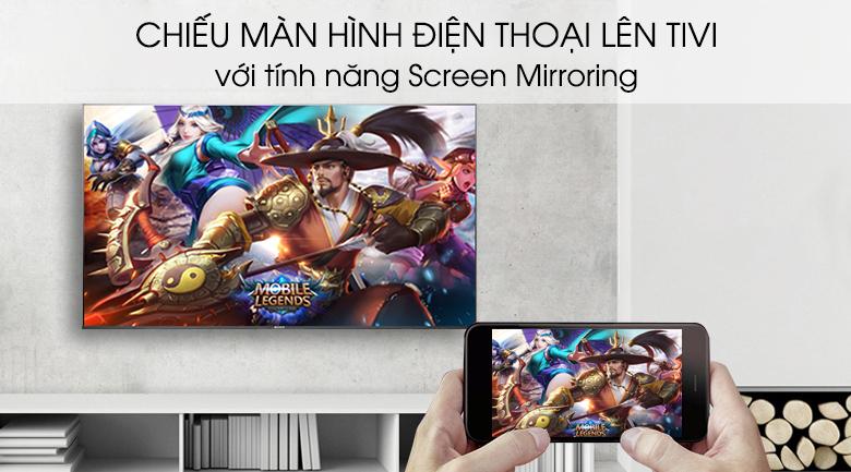 Android Tivi Sony 4K 55 inch KD-55X8500G - Chiếu màn hình