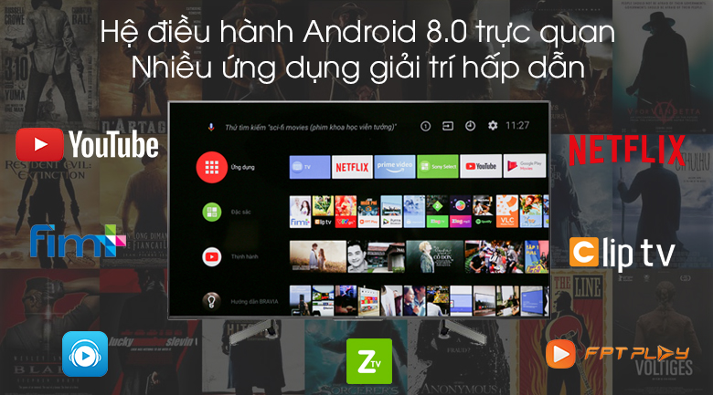 Android Tivi Sony 4K 55 inch KD-55X8500G - Android 8.0