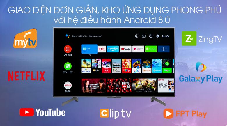Hệ điều hành-Tivi LED Sony KD-55X8500G