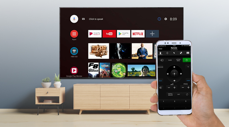 Android Tivi Sony 4K 55 inch KD-55X8500G - Video & TV SideView