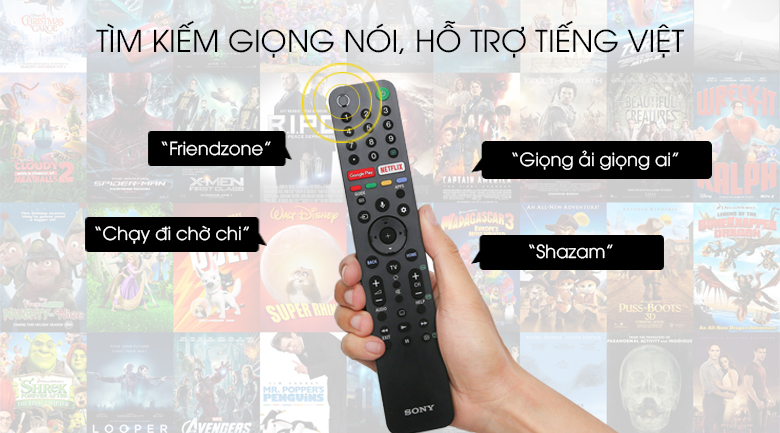 Android Tivi Sony 4K 55 inch KD-55X8500G - Voice Search