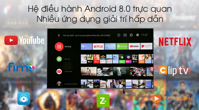 Android Tivi Sony 4K 55 inch KD-55X8500G/S - Android 8.0