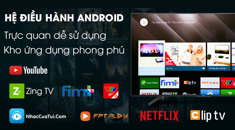 Android Tivi Sony 4K 65 inch KD-65X8500G - Android 8.0