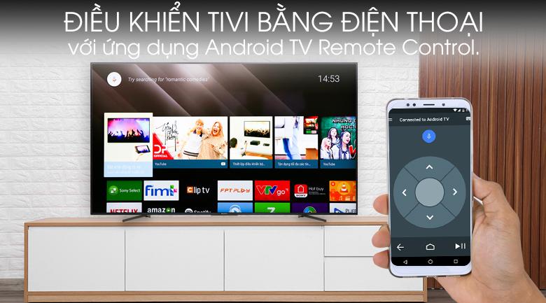 Android Tivi Sony 4K 65 inch KD-65X8500G - điều khiển tivi qua ứng dụng Android TV Remote Control