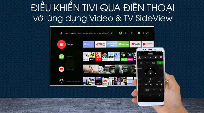 Android Tivi Sony 4K 65 inch KD-65X8500G/S - Video & TV SideView
