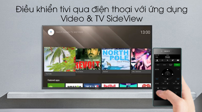 Android Tivi Sony 43 inch KDL-43W800G - Điều khiển tivi qua điện thoại