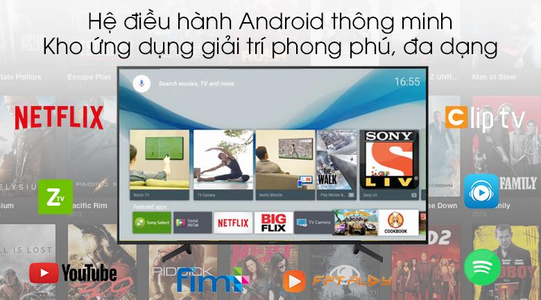Android Tivi Sony 4K 65 inch KD-65X8000G - Hệ điều hành Andorid