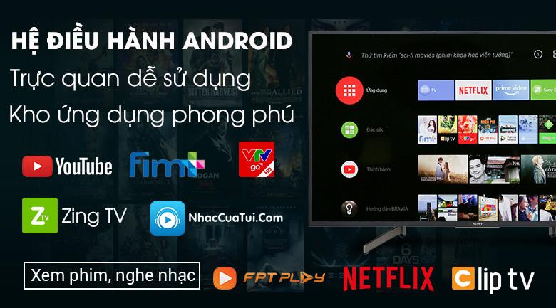 Android Tivi Sony 4K 65 inch KD-65X8000G - Hệ điều hành Android